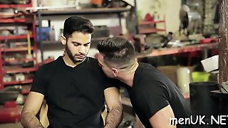 Gay Couple In Scenes Of Raw Blowjob And Deep Anal Dance