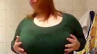 Fat Redhead Mature Lady Is Proud Of Her Big Boobies