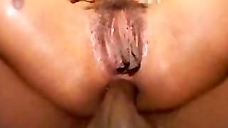 Thick Ebony Chick Doing Anal