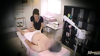 Massage Parlor Hidden Camera With A Sexy Japanese Woman