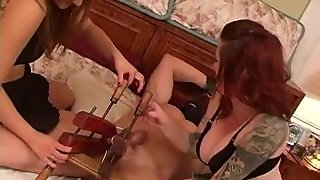 Kinky Babes Busting Their Serf's Balls