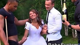 Just Married Bride Is Fucked By Multiple Guys