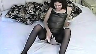 Teen With No Tits Masturbates With A Toy