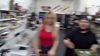 Huge Tits Blonde At Pawn