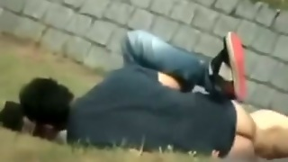Spy Cam Clip With A Teen Couple Making Love In The Park