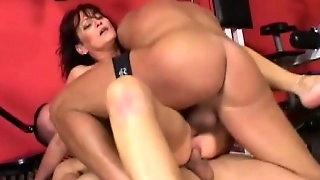 Two Cocks Tear Into A Horny Milf's Experienced Fuckholes At Once