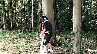 Sporty Jap Teen Girl Playing Seductress Gets Fucked Outdoor