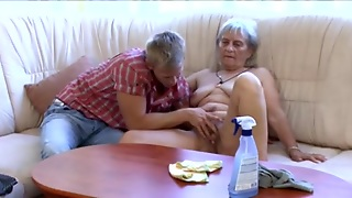 Couch, Hairy, Mature, Grannies