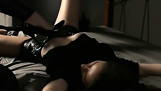 Two Coeds In Latex Fuck With Strap On