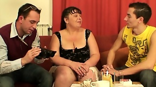 Hd, Old Young, Bbw, Granny, Amateur, Facial, Big Boobs, Brunette, Threesome