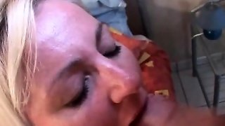 Sexy Mature Blonde Busy Serving Horny Cock