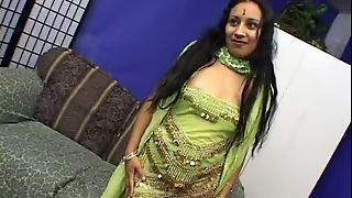 Horny Indian Slut Getting Double Teamed And Creampied In Threesome