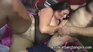 Bbw And Small Plumper Are Group Fucked