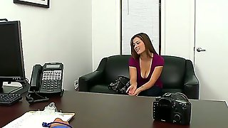 Young Alana Lace Came For A Casting With Her Big Natural Boobs And Sexy Ass