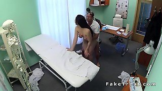 Doctor Examines Big Beasts In A Fake Hospital