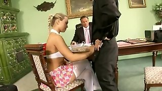 Stockings, Blonde, Office, Blowjob, Cowgirl, Foreign, Hardcore