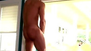 Marcus Mojo Cums On Window After Jack Off Session