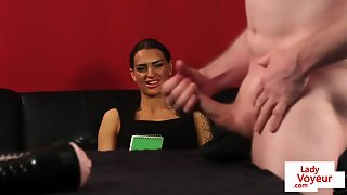 English Cfnm Beauty Instructing Naked Sub