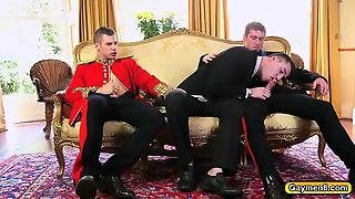 Getting Drilled In The Ass Gay Threesome With Big Dicks
