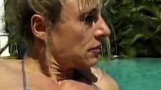 Muscled Mature With Horny Lesbo Teen