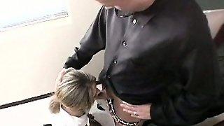 Blonde, Blowjob, Teen, Handjob, College, Uniform