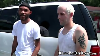 Gay Twink Interracial Group Blowjob