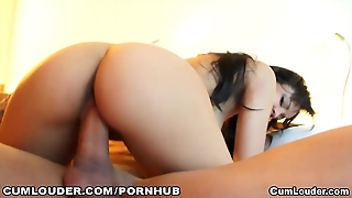 Sasha Jones Rides Her Gaping Pussy On A Cock