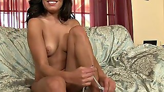 Big Load Of Cum On Missy Maze's Face After An Interracial Hardcore Banging