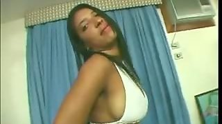 Dark Latina Strips And Does Anal