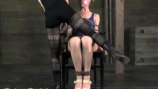 Tall Blonde Sensually Dominated By Elise Graves