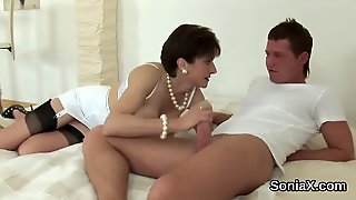 Unfaithful British Milf Lady Sonia Shows Off Her Monster Hooters