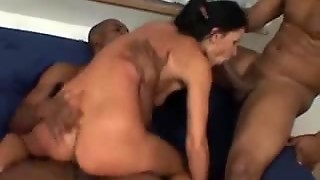 Tapping The Hairy Pussy And Ass In A Threesome