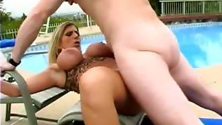 Big Tits Swinging By The Pool