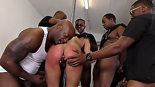 Interracial Blowbang