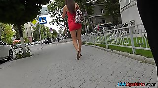 Hot Thong Upskirt Video Of A Stunning Brunette
