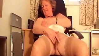 Mature Stocking Office Milf