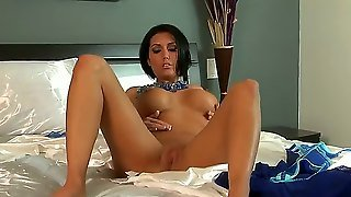 Incredible Brunette Dylan Ryder Slowly Takes Off Her Panties And Than Demonstrates On The Camera How She Plays With Her Pussy.