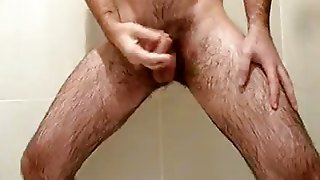 Hairy Dude In The Shower