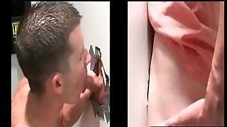Gloryhole Gay Sucks Straight Shaft