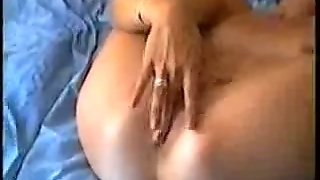 See My Flamboyant Girlfriend Finger Fucking Her Wet Shaved Cunt