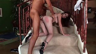 Naughty Natural Redhead Nikki Rhodes Loves To Choke On Thick Cock