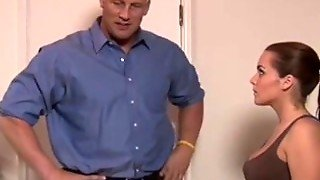 Big Tits Babysitter Gags On A Hard Cock - Xxb