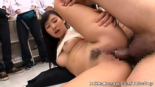 Nana Ogura Nice Asian Teen Gets Bukkake In Public
