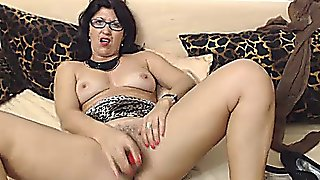 Hairy Mature With Glasses On Cam