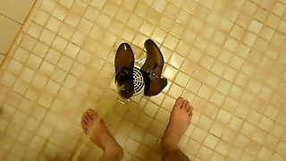 Piss In Wifes Brown Work Shoe