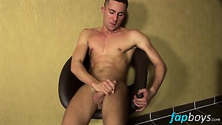 Adorable Blonde Twink With Tattoos Axel Fulling Masturbates