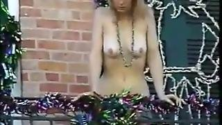 Nude Chick During Mardi Gras