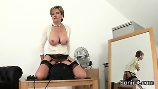 Unfaithful British Mature Lady Sonia Exposes Her Enormous Bo