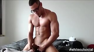 Muscled, Glasses, Masturbation, Amateur, Gay, Solo