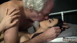 Grandpa Fucks A Beautiful Young Teen Pussy Oral Creampie